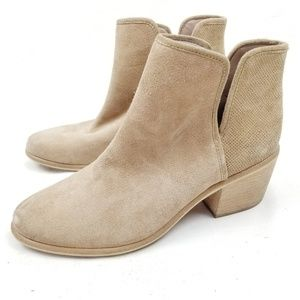 Bp Split Shaft Perforated Suede Booties